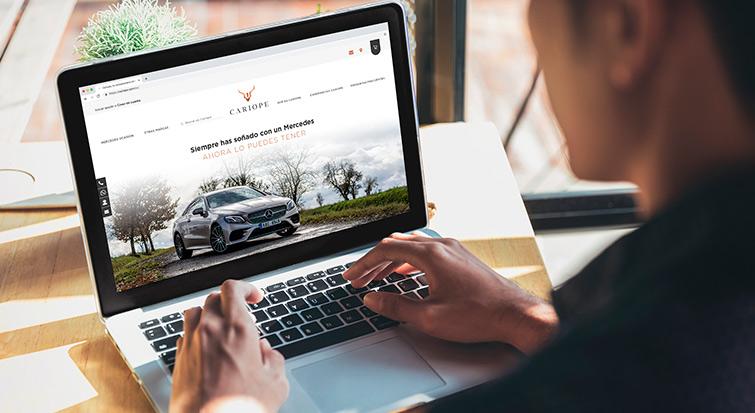Compra de coches online en la web de Cariope